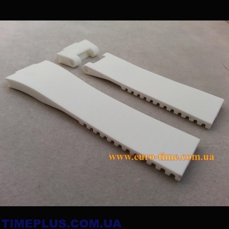 белый каучуковый ремешок для часов улис нардин