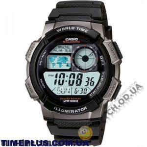Мужские наручные водонепроницаемые часы Casio AE-1000W-1BVSDF
